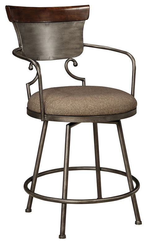 Signature Design By Bar Stools by Signature Design By Moriann Upholstered Barstool