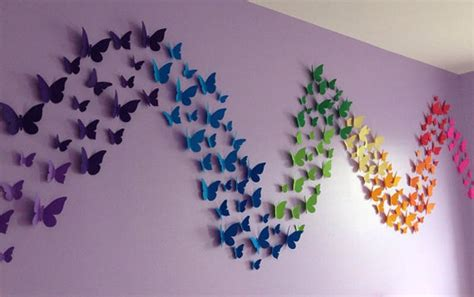 Diy Home Wall Decor by Butterfly Pattern Wall Decor Quiet Corner