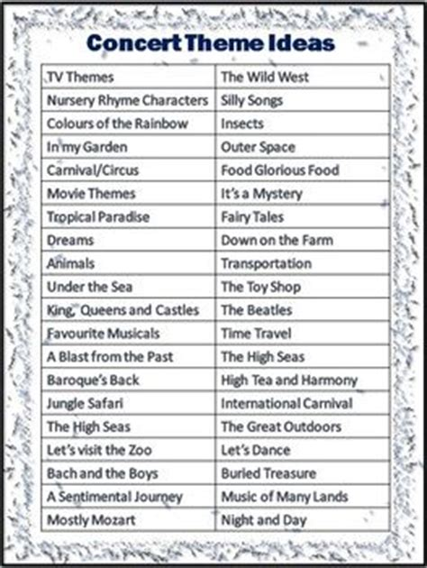 themes for college programs theme ideas concerts and classroom themes on pinterest