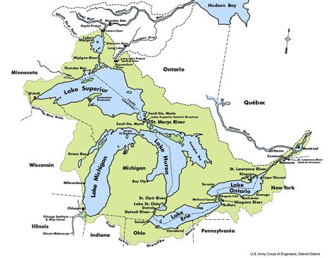 the great lakes map the great lakes nats101