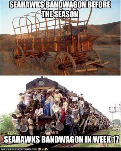 Seahawks Bandwagon Meme - seattle seahawks band wagon funny pictures w630
