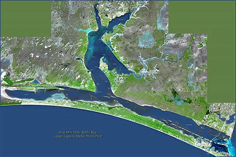 baffin bay texas map shoreline aerial maps