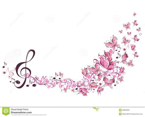 imagenes de flores musicales musical notes with butterflies royalty free stock images
