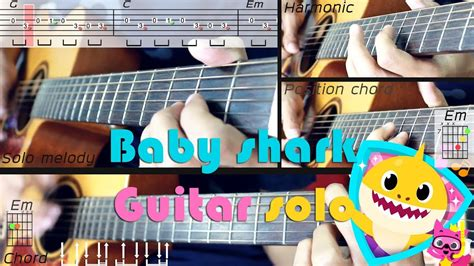 baby shark guitar cover baby shark cover guitar solo tab youtube