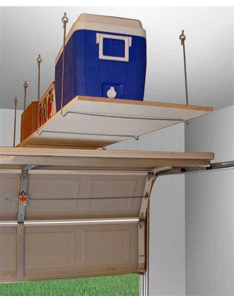 overhead storage shelves diy garage ceiling storage the owner builder network