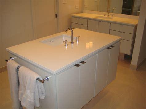 Caesarstone Bathroom Vanity Bathroom Vanities Caesarstone Eggshell Quartz Contemporary Bathroom New Orleans By