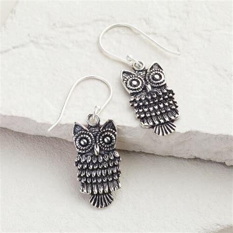 Owl Drop Earrings silver owl drop earrings world market