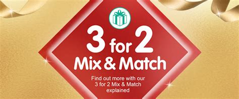 3 for 2 mix and match christmas gifts boots
