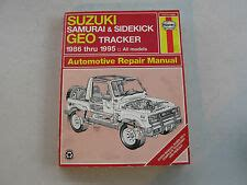 free service manuals online 1994 geo tracker electronic valve timing suzuki samurai manual ebay