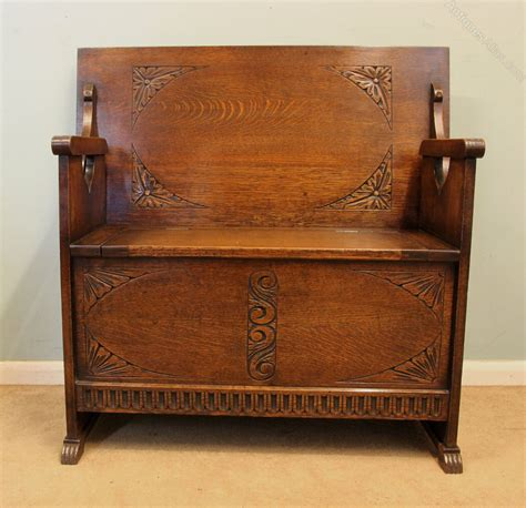 settle bench for sale antique oak monks bench settle hall seat antiques atlas