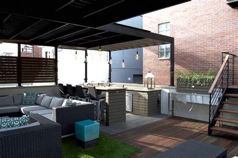 Garage Deck by Garage Rooftop Deck West Town Chicago Rooftops