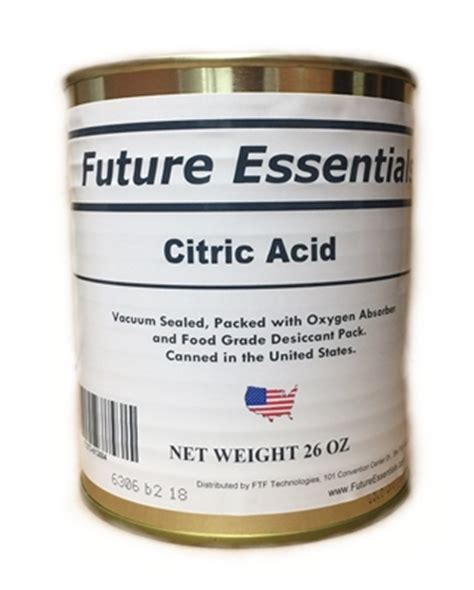 future essentials canned citric acid