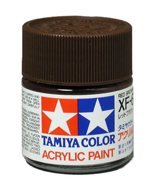 acrylic colors xf 64 brown 190 oz bottle by tamiya dallasmodelworks