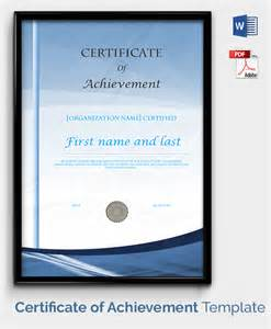 printable achievement certificate template 30 free printable certificate templates to