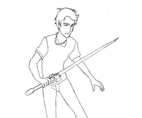 percy jackson free colouring pages