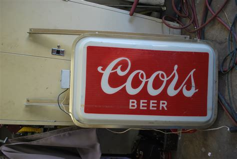 coors light lighted sign commercial outdoor lighted coors sign collectors weekly