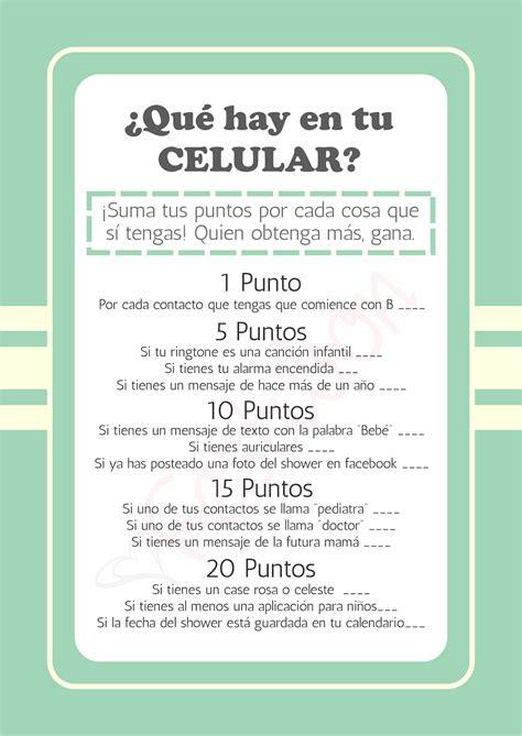 Juegos Par Baby Shower by 191 Qu 233 Hay En Tu Celular Juegos De Baby Shower Para