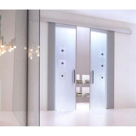 porta mantovana porta scorrevole tutto vetro con kit mantovana esterna in