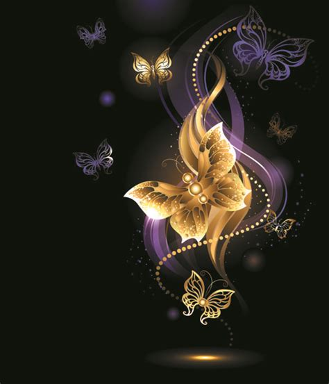 wallpaper gold butterfly purple and gold backgrounds purple and golden