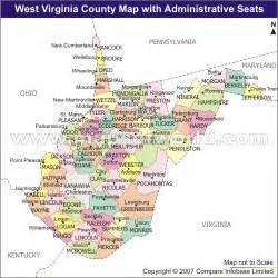 west cities map west virginia map and west virginia satellite image