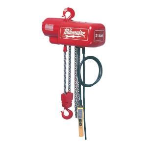 milwaukee  ton  ft electric chain hoist   home depot