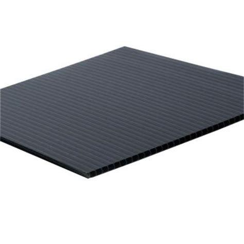 corrugated plastic home depot 48 in x 96 in x 0 157 in black corrugated plastic sheet
