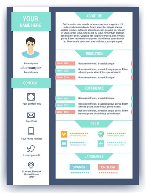 graphic design resume maker 13 best creative cv templates cv builder images on
