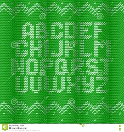 pattern ornament font crochet font knitted ornament stock vector image 75488402