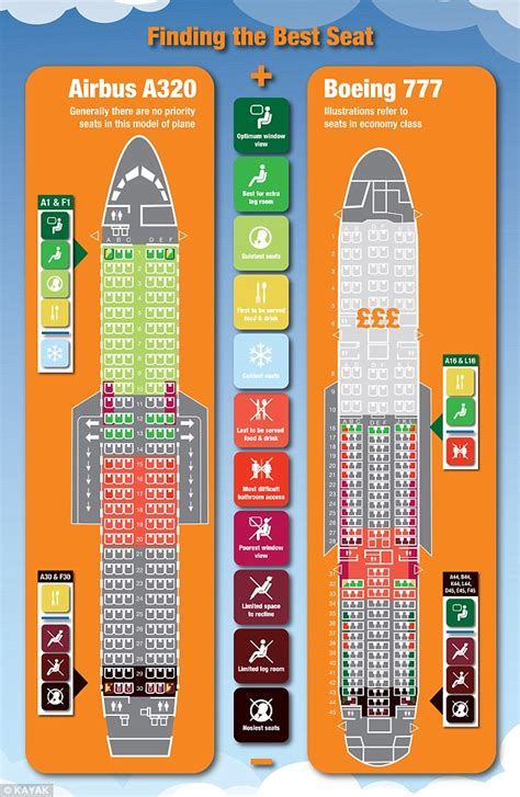 best seats on planes infographic reveals the best and worst plane seats daily