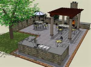 Patio Layout by Patio Layout With Outdoor Kitchen Area Would Do Small