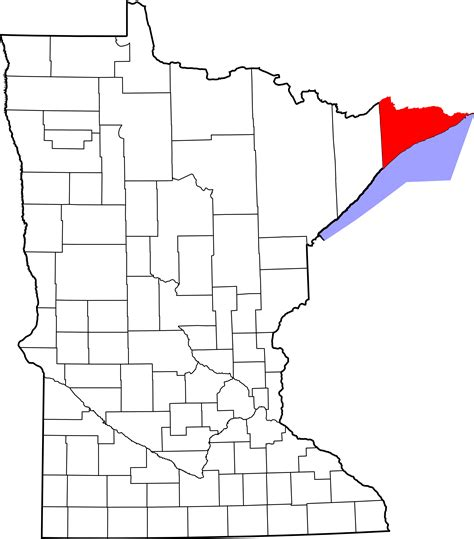 Cook County Search File Map Of Minnesota Highlighting Cook County Svg Facts For Kidzsearch