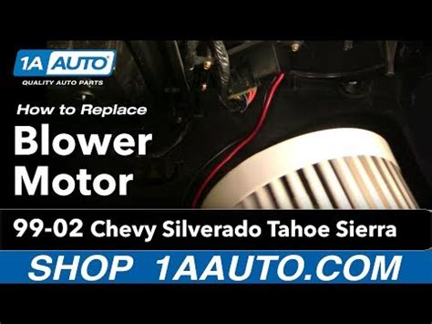 how to replace a blower motor in a 2010 toyota camry how to install replace heater ac blower motor chevy silverado tahoe sierra 99 02 1aauto com video