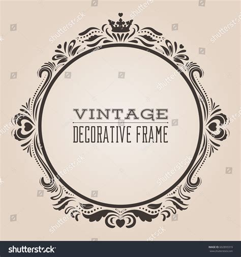 the images collection of vector round label victorian round vintage round vintage ornate border frame victorian stock vector