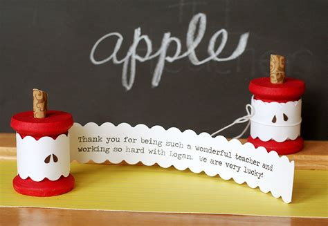 How Do I Use An Apple Gift Card - teacher gifts 15 cute diy cards for your kids to say thank you