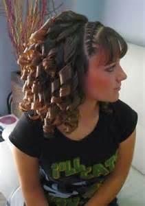 sissy get hair curled cute bangs curls and bangs on pinterest