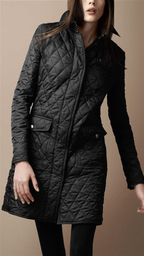 Quilted Coat burberry brit quilted trench coat in black lyst