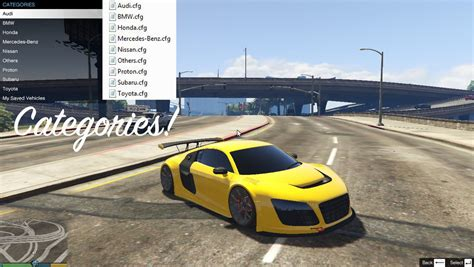 mod gta 5 cars add on car spawner menu gta5 mods com