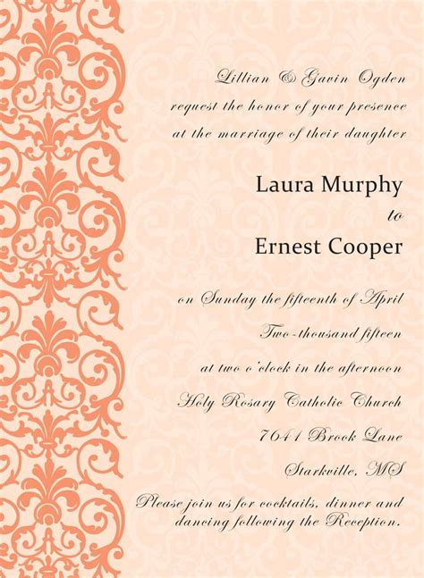 123 Print Wedding Invitations by Coral Lace Wedding Invitations From 123print