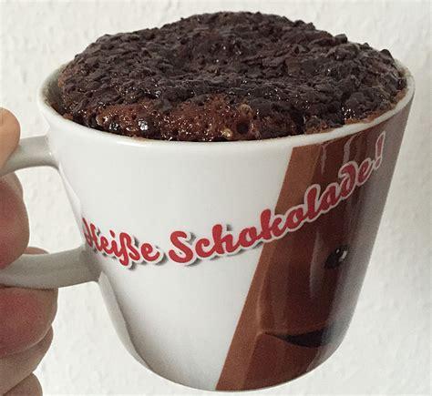 nutella tassen kuchen schneller schokoladen nutella tassenkuchen