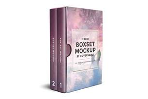 Set Template by 6 X 9 2 Book Box Set Mockup Template Covervault