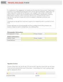 model release form template free business form template gallery
