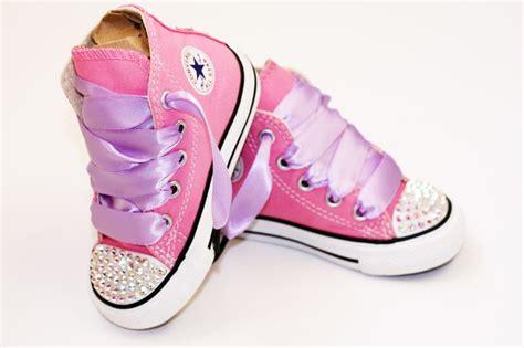 toddler hi top pink converse chuck s with swarovski