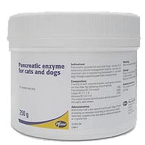 pancreatic enzymes for dogs pancreatic enzyme for cats and dogs 250g tub