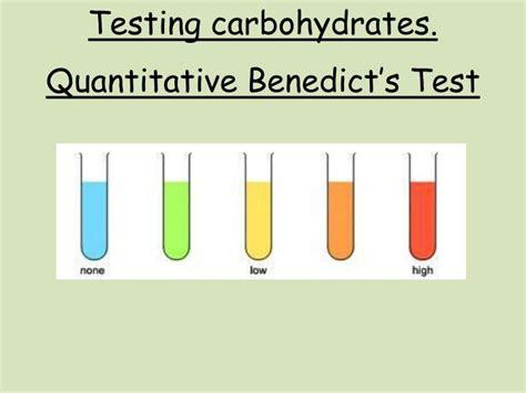 carbohydrates test ppt testing carbohydrates quantitative benedict s test