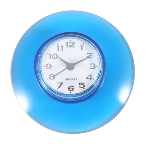 bathroom suction clock round small wall clock suction cup quartz clock waterproof
