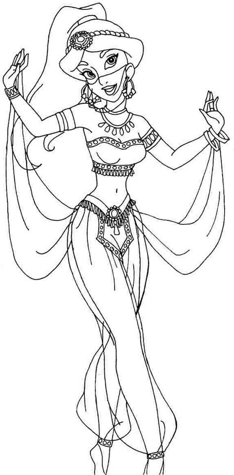 jasmine coloring pages pdf 8 best images of printable disney princess jasmine