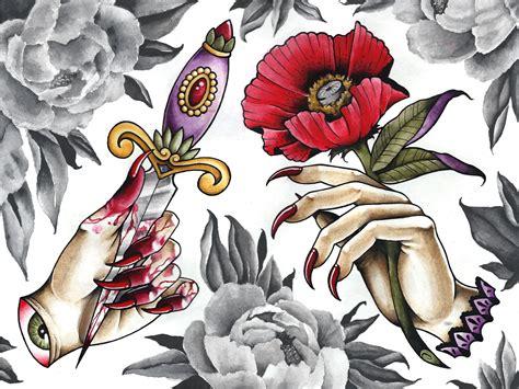 tattoo hand flash hand tattoo flash danielhuscroft com