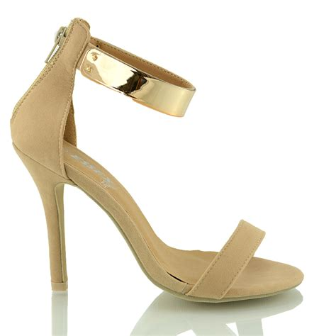 high heel flats stiletto ankle cuff womens high heel strappy