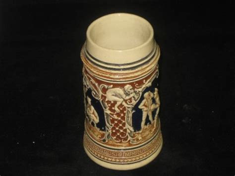 How Does Usps Background Check Take Antique German Stein With A Bowling Early 1900 S Ebay