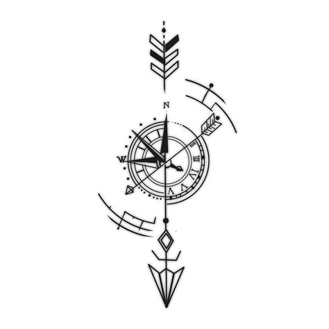 tribal compass tattoo designs precise timing compass and arrow
